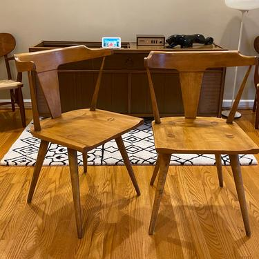 Pair of Maple T-Back Dining Chairs by Paul McCobb for the Planner Group by MSGEngineering