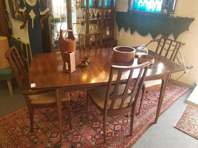 Newly Reduced. MCM Brasilia dining table with 4 chairs and leaf. $625