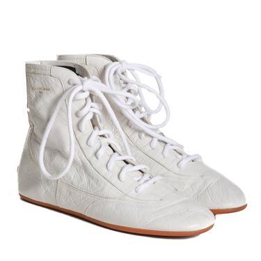 Balenciaga Cracked Leather High-Tops
