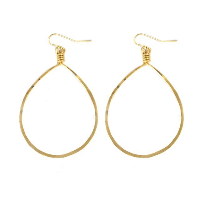 14k Goldfill Oval Hoop Earrings