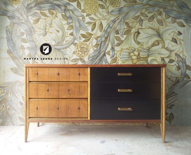 Mid Century Broyhill Saga Dresser — SAMPLE by MarthaLeoneDesign