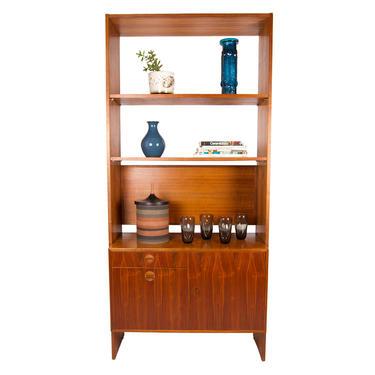 Danish Walnut Stand Alone Wall Unit   Room Divider   Bookshelf
