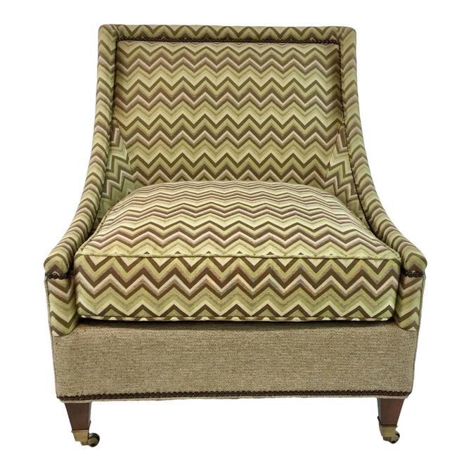 Modern Drexel Heritage Green and Brown Merris Chair
