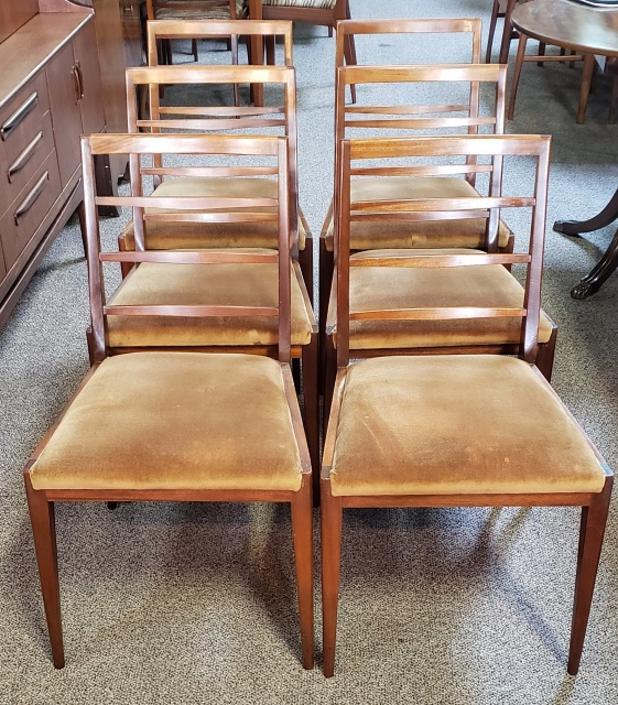 Item #T45 Set of Six Danish Modern Teak Dining Chairs c.1960s