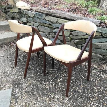 Kai Kristiansen Model N 31 Dining Chairs Pair Vintage Danish Mid-Century McM Scandinavianm Retro Atomic Ranch by BrainWashington