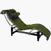 Le Corbusier LC4 Green Leather Chaise Longue