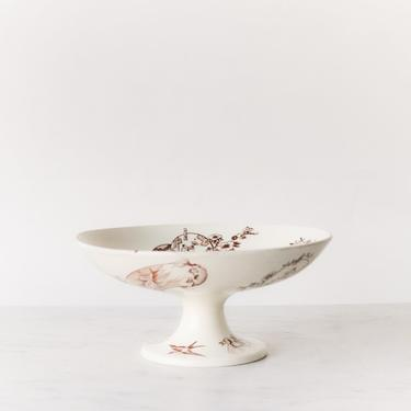 Vintage Transferware Pedestal Bowl