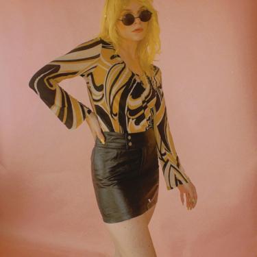 Y2K Laminated Tommy Jeans Micro Miniskirt by TheMetalRomanticShop