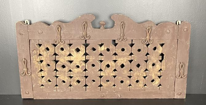 Antique Reticulated Wood Panel
