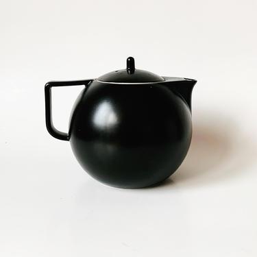 Vignelli Sasaki Colorstone Matte Black Teapot by SabineVintageHome