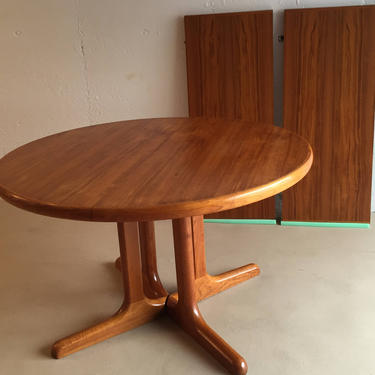Danish Ansager Mobler Teak Dining Table With 2 Leaves by ASISisNOTgoodENOUGH