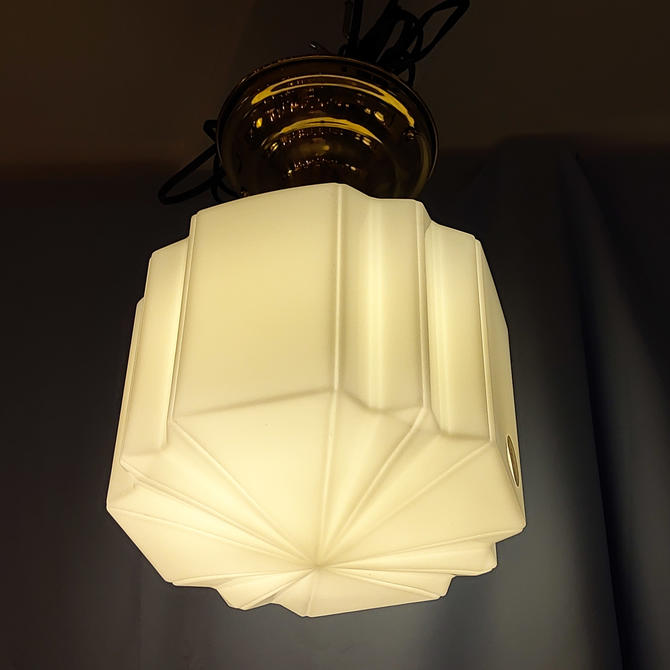 Geometric Art Deco Flush Mount
