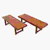 Pair of Danish Modern Teak Torbjorn Afdal Benches / Side Tables