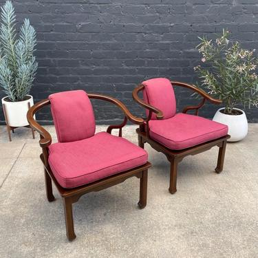 Mid-Century Hollywood Regency Style Lounge Chairs, c.1960's by VintageSupplyLA