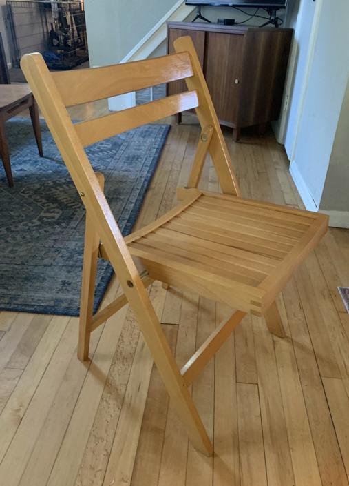 Set of 4 Wood Folding Chairs