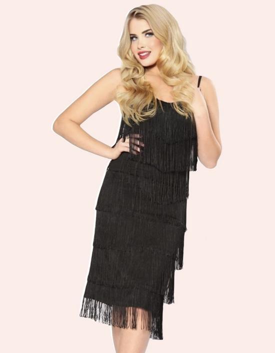 Shimmy Fringe Dress