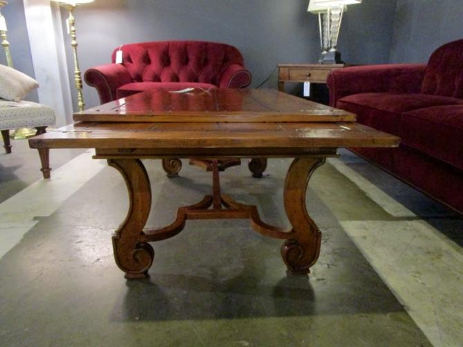 RESTORATION HARDWARE EXPANDING COFFEE TABLE IN SOLID CHERRY