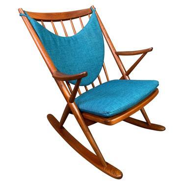 Vintage Danish Mid Century Modern Teak Rocking Chair by Frank Reenskaug for Bramin by AymerickModern
