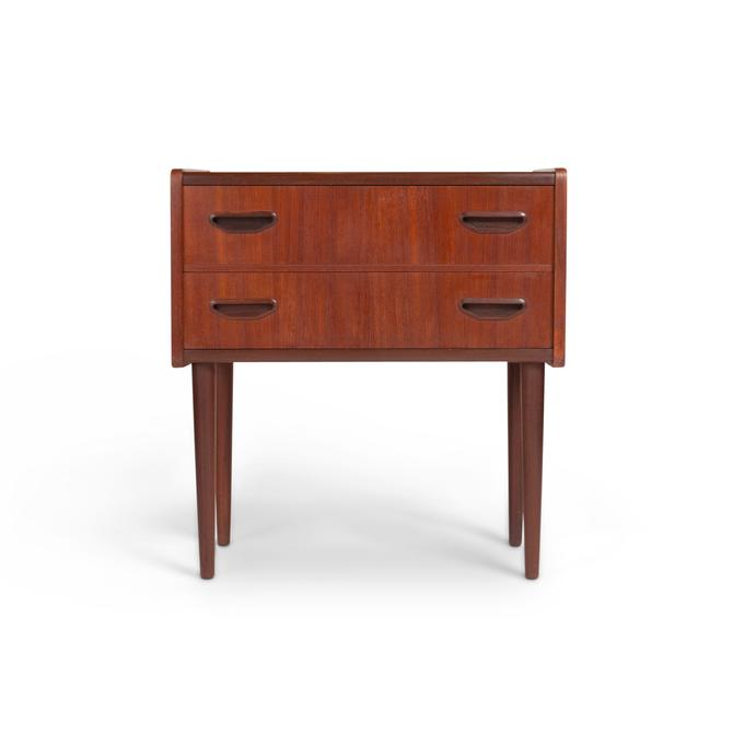 Danish Modern Teak Small Chest / Night Stand by MCMSanFrancisco