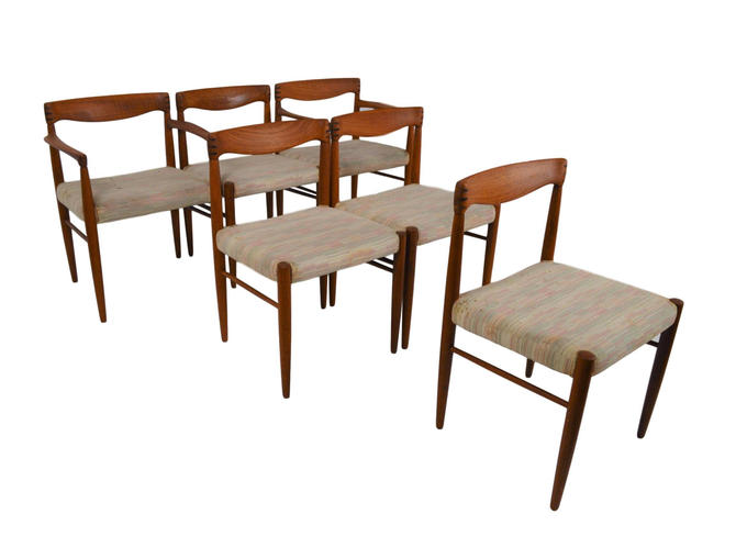 Set Of 6 Danish Teak Dining Chairs By Bramin by RetroPassion21