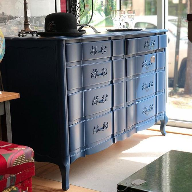 Navy French Provincial Dresser