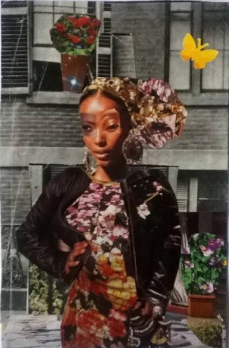 African American art. Spring Chic. Original collage. by Mirlande