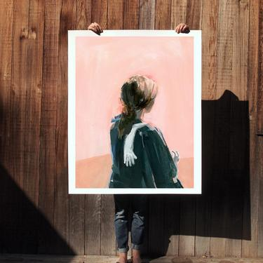 Portrait with Long White Glove .  extra large wall art . giclee print by ClareElsaesser