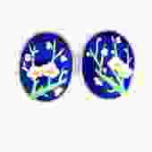Enamel Blossom Earrings