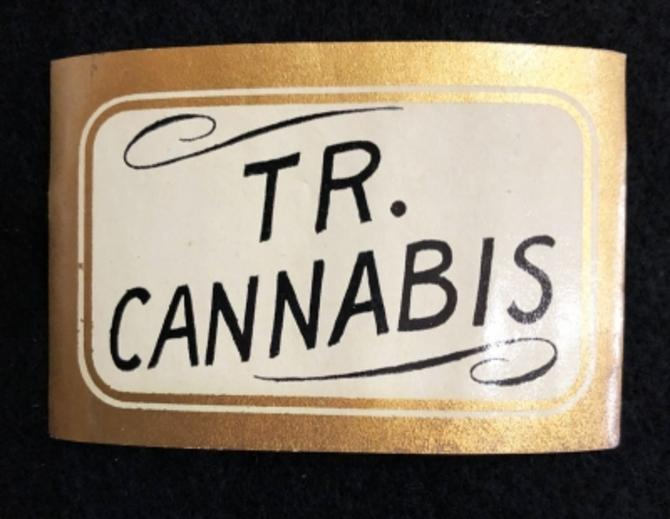 1920's Unused Apothecary Label Tr. Cannabis Marijuana Liquid Tincture