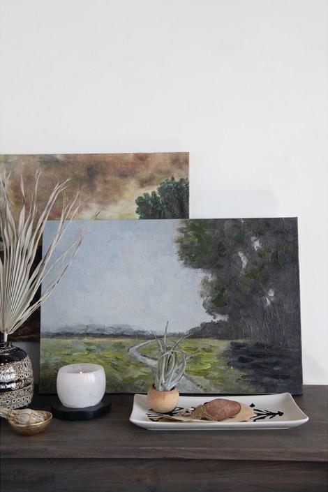 Hand-Painted Landscape