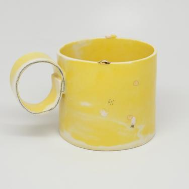 Ready to Ship, Handmade Porcelain Latte Mug by fromfran