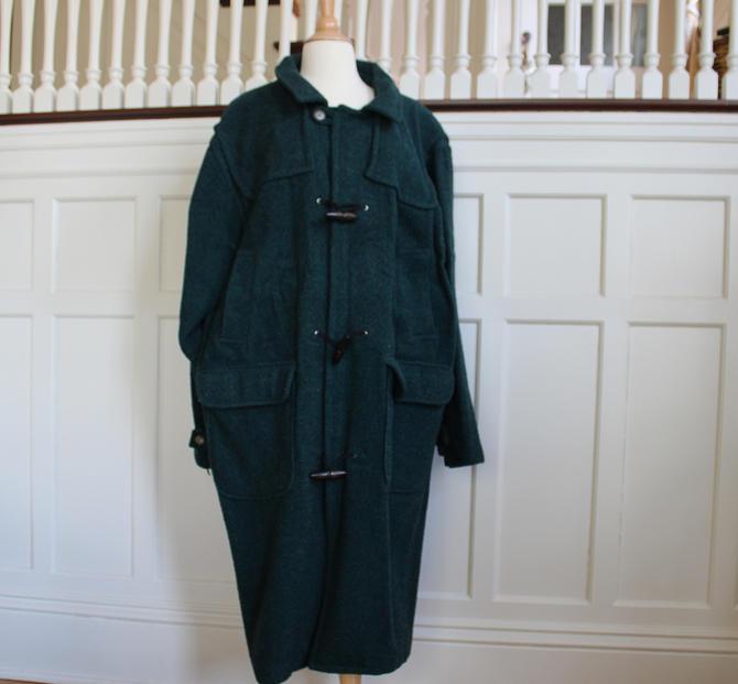 Vintage Woolrich Emerald Green Long Wool Toggle Coat Women 39 S Size Xl By Neonskyvintagemn From Neonsky Vintage Of Minneapolis Mn Attic