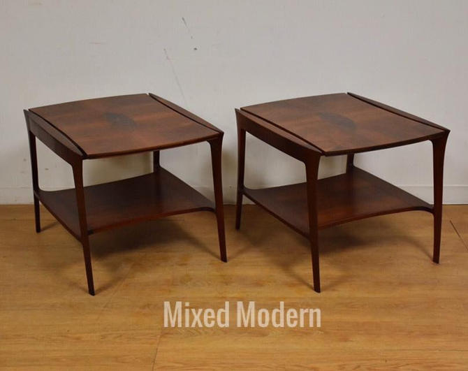 John Stuart Walnut Burl End Tables- a Pair by mixedmodern1
