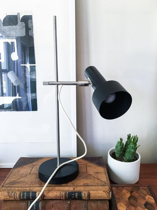 Sleek Black Shade Positionable Desk Lamp Vintage Fog Morup Robert Sonnemann Hala Style Midcentury by CaribeCasualShop