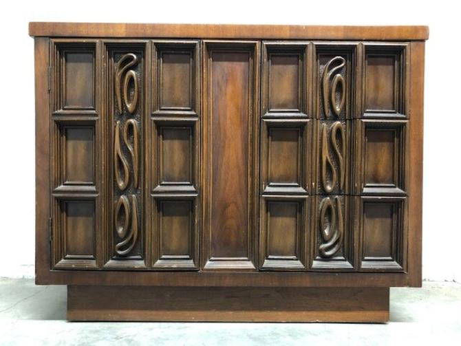 Mid Century Brutalist Cabinet — 0639 — RESERVED FOR N.B.