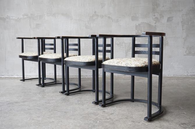 Josef Hoffmann Fledermaus Style Chairs by FandFVintage