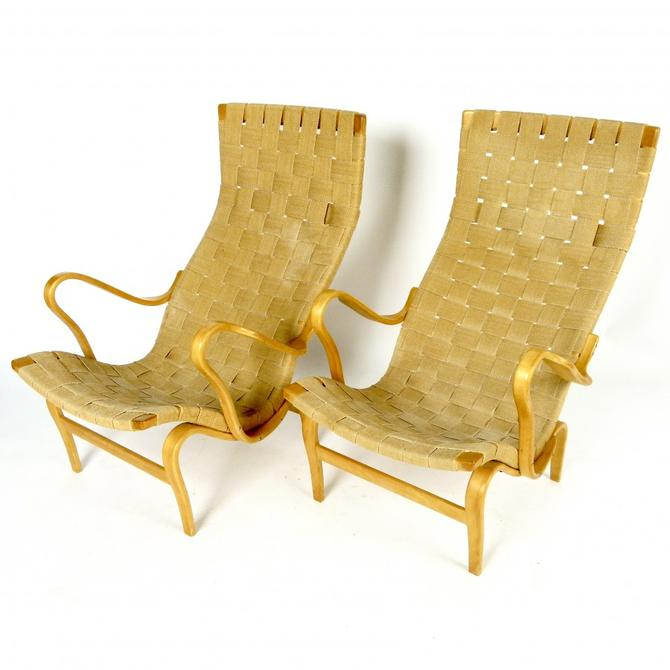 "Pair of Bruno Mathsson ""Pernilla "" Chairs"