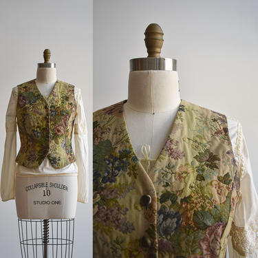 Laura Ashley Floral Tapestry Vest by milkandice