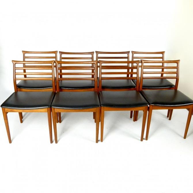 Set of 8 Danish Chairs