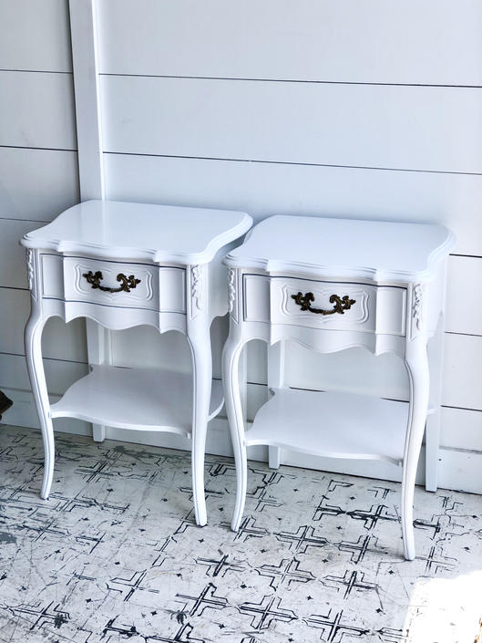 Customizable Vintage French Nightstands/Side Tables/End Tables - Choose Any Color From Any Brand by VintageRoseHomeMiami