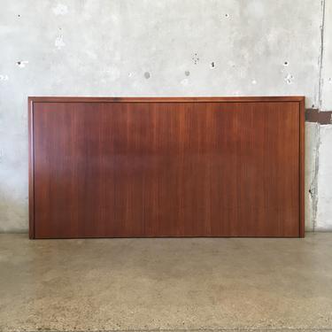 Mid Century Cal King Walnut Headboard