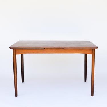 Danish Drawer Leaf Table in Teak