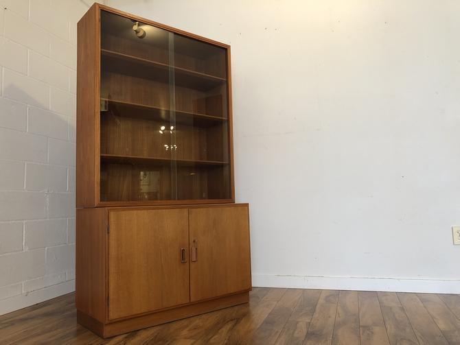 Borge Mogensen Danish Teak Cabinet With Display
