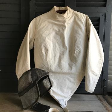 Vintage Castello Fencing Suit, Helmet, Original Labels, Castello NYC, Fencing Set by JansVintageStuff