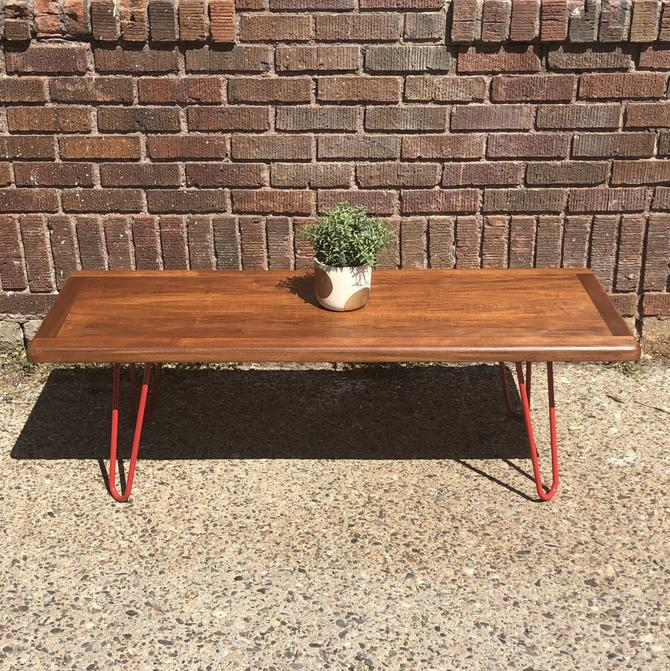 Mid-Century Style Coffee table on Hairpin Legs
