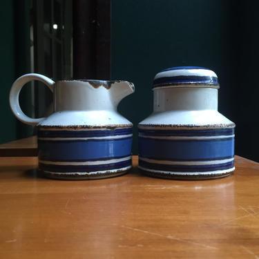 Stonehenge Midwinter Moon Creamer Lidded Sugar Tea Coffee Set Condiment Service England Mid-Century by BrainWashington