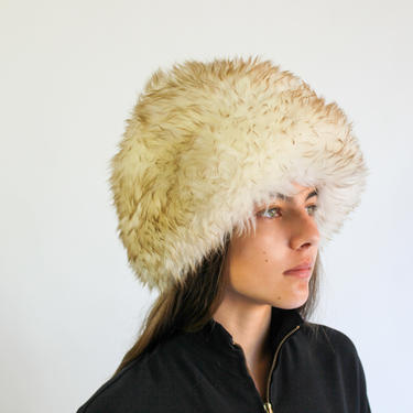 60s Curly Lamb Hat   Sheepskin Fur Hat   Lambskin Hat   Italian Wool Chunky Hat   Made in Italy   High Fashion Ski Cap by TheVault1969
