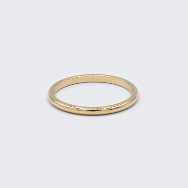 Half Round Gold Band