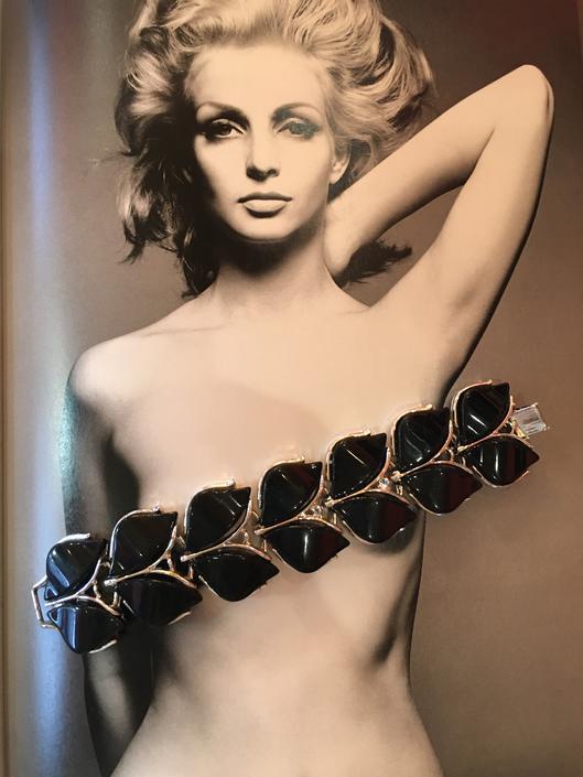 thermoset bracelet, 1960s bracelet, vintage 60s bracelet, black and silver, chunky bracelet, petal bracelet, costume jewelry, mid century by BlackLabelVintageWA