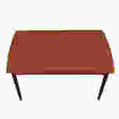 Danish Modern Teak Curved Expanding Dining Table